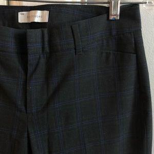 GAP Slip Cropped Stretch Plaid Pant